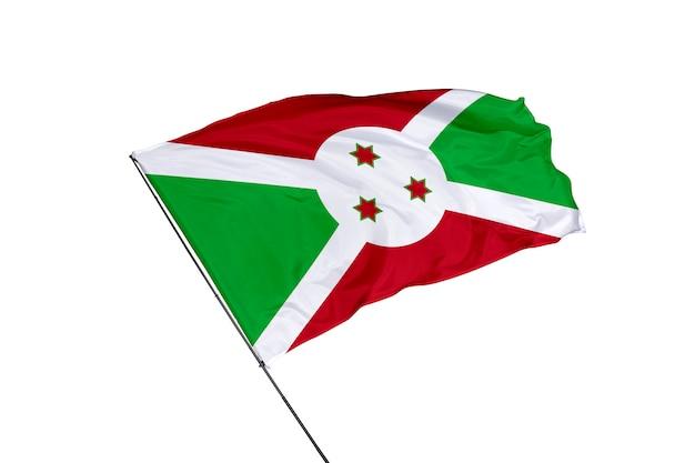 Bandiera del burundi su sfondo bianco