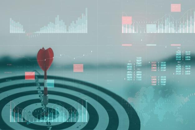 Analisi aziendale con il concetto di dashboard di indicatori di prestazioni chiave.