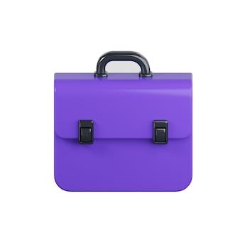 Icona di borsa business isolato su bianco