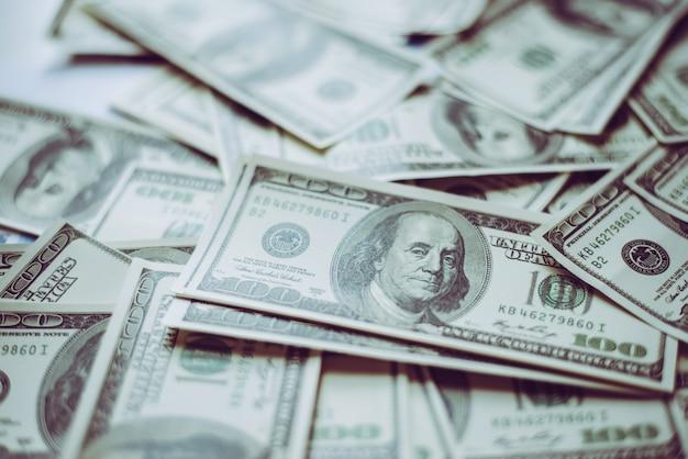 Attività di nota contanti dollari segno