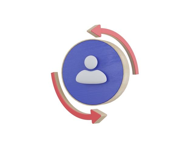 Icona di comunicazione aziendale isolata su sfondo bianco segni aziendali 3d illustrazione render