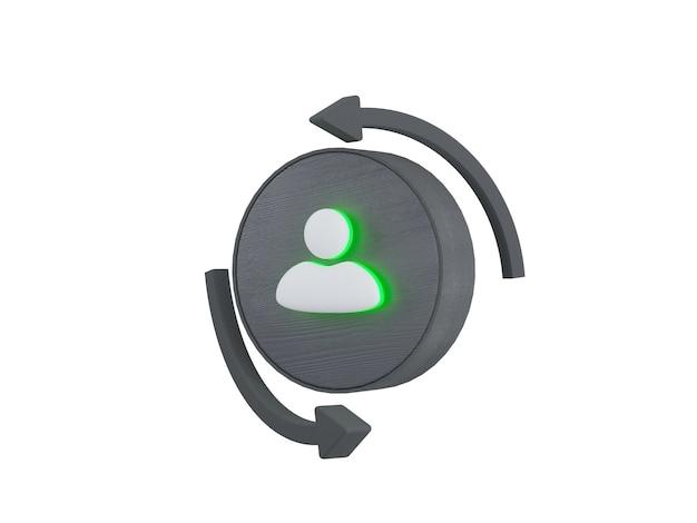 Set di icone di comunicazione aziendale isolato su sfondo bianco illustrazione 3d di segni aziendali