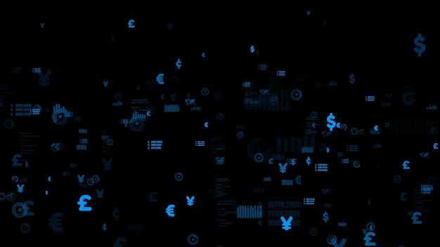 Grafico visualizzatore di dati aziendali e dati finanziari