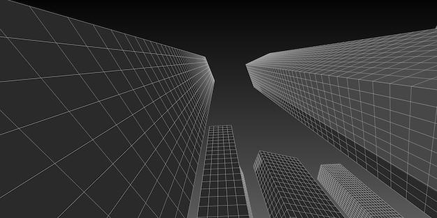 Business and finance center building 3d image architecture, 3d illustration