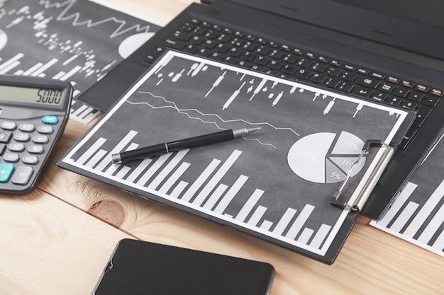 Grafici aziendali e oggetti aziendali. contabilità