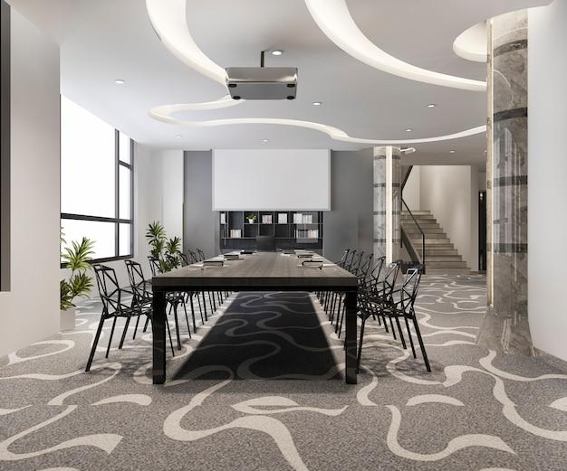Sala riunioni d'affari in un edificio per uffici alto
