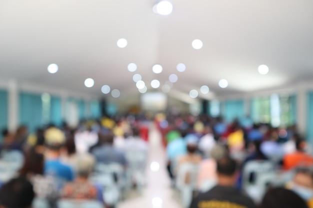 Ufficio sala riunioni d'affari uno sfondo sfocatura di formazione in aula