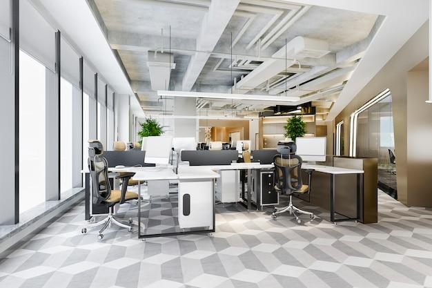 Riunione d'affari e sala di lavoro in edificio per uffici