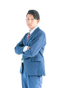 Ritratto degli uomini di affari isolato su bianco