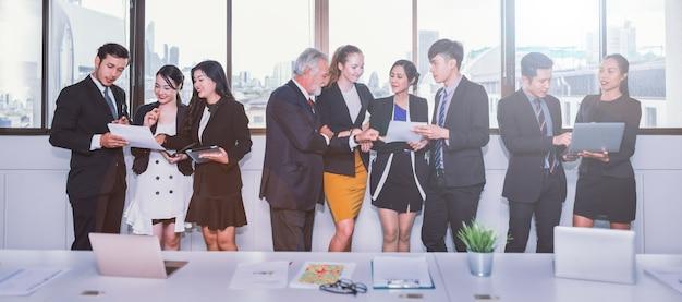 Gente di affari che incontra concetto di lavoro di discussione