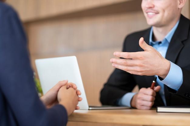 Situazione aziendale, concetto di colloquio di lavoro.