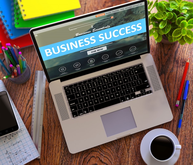 Successo aziendale. concetto di lavoro online.