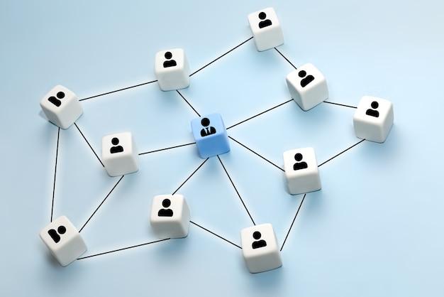Concetto di business e tecnologia. risorse umane, risorse umane, reclutamento, gestione, leadership e team building.