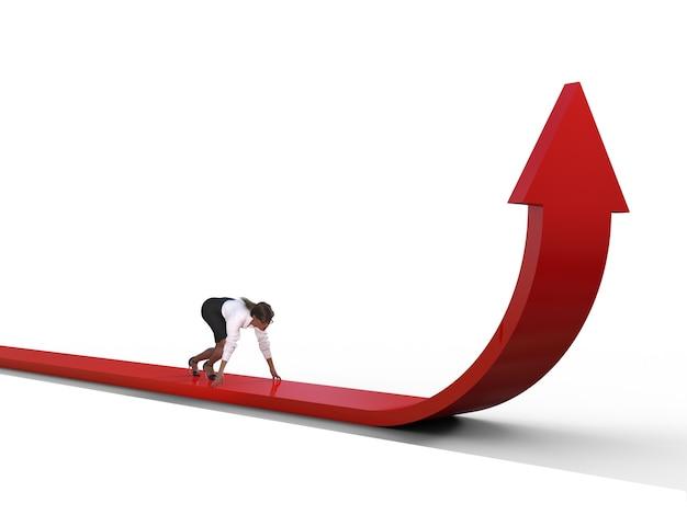 Imprenditrice sulla sfida della freccia