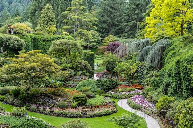Giardini butchart in estate victoria british columbia canada