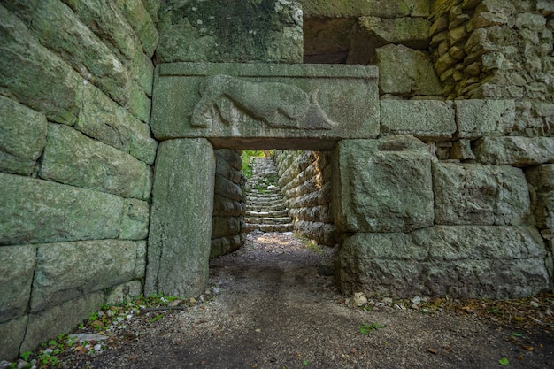 Parco archeologico di butrinto in albania.