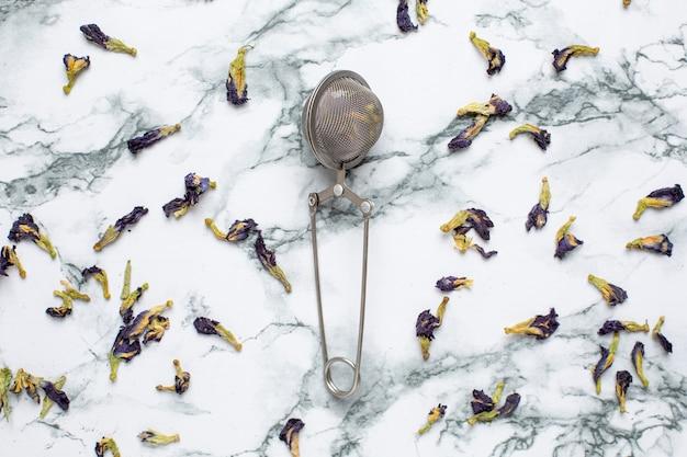 Fiori di pisello farfalla tè pisello, pisello blu per bere sano