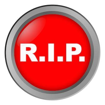 Bottone con scritta rip