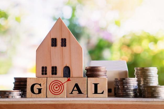 Acquistare un nuovo concetto di casa, piano degli obiettivi futuri per il settore immobiliare