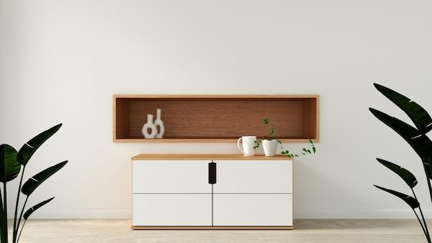 Gabinetto nella moderna stanza vuota in stile giapponese
