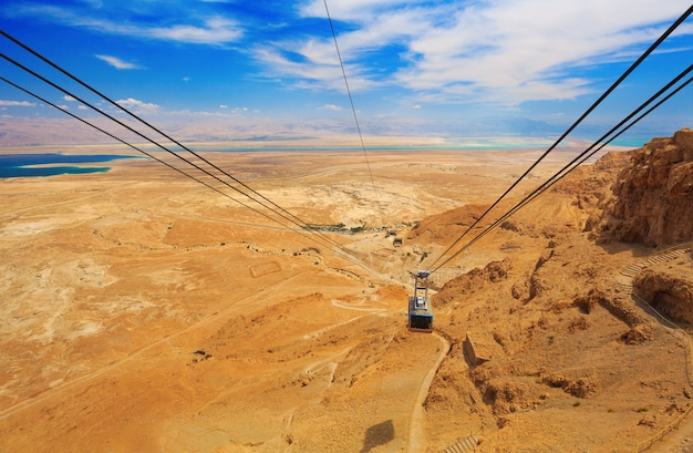 Funivia nella fortezza masada israel