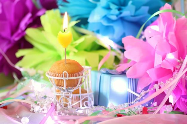 Celebrazione della candela della torta