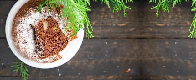 Torta dolci di natale torte fatte in casa dolce dessert cartolina di natale capodanno pan di spagna al cioccolato