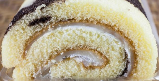 Rotolo di torta al latte di hokkaido.