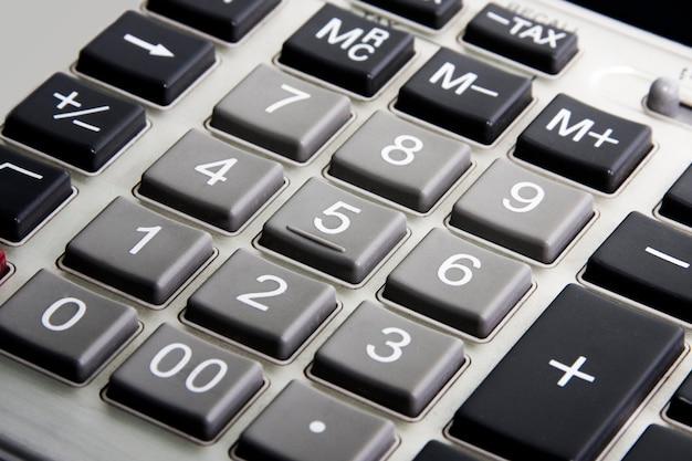 Primo piano della calcolatrice