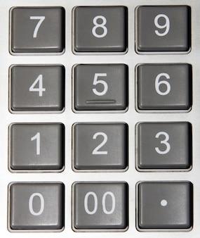 Primo piano dei numeri della calcolatrice