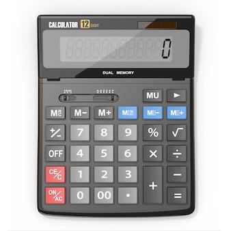Calcolatrice su sfondo bianco isolato