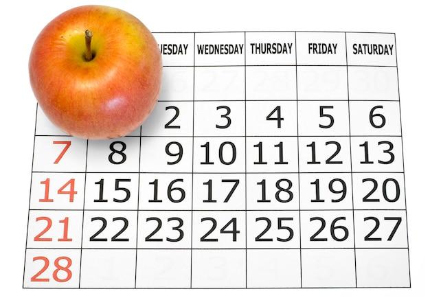 Calendario febbraio2010 con arricciatura pagina isolato su bianco