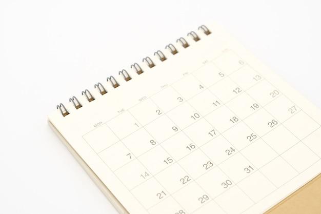 Un calendario del mese utilizzando come sfondo il concetto di business e il concetto di pianificazione