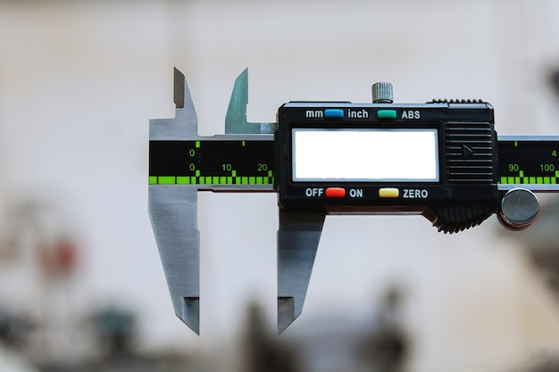 Calibri dispositivo di misurazione digitale moderno. accuratezza di misurazione. copia spazio.