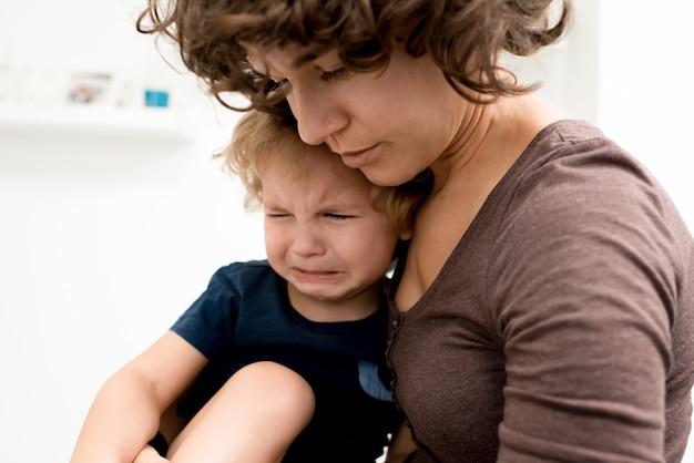 Calmando little boy