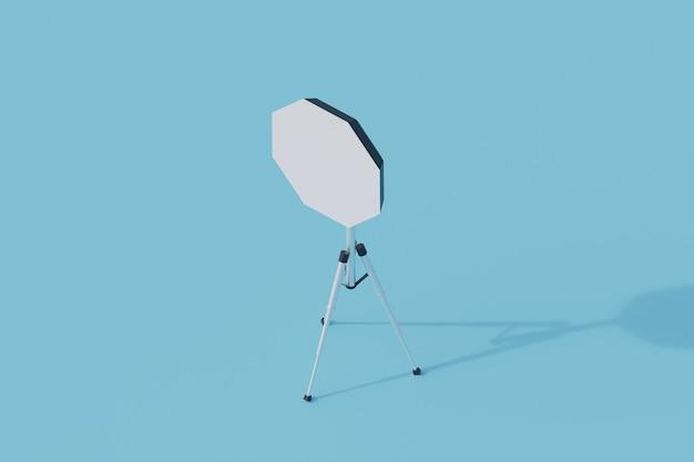 Oggetto isolato singolo fulmine della fotocamera. 3d render illustrazione isometrica