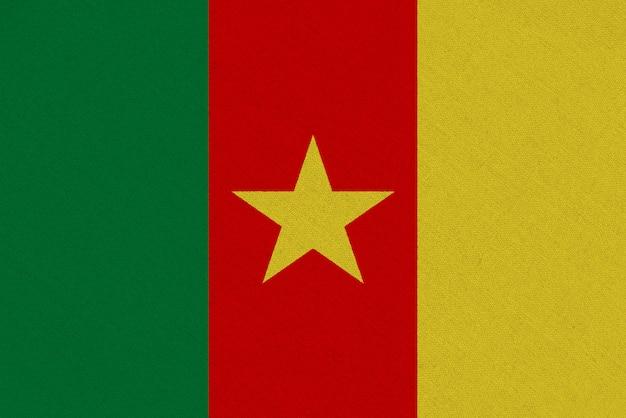 Bandiera del tessuto del camerun