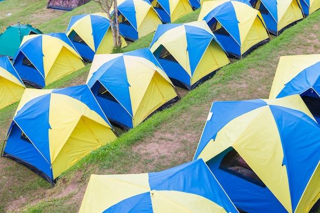 Area tenda da campeggio