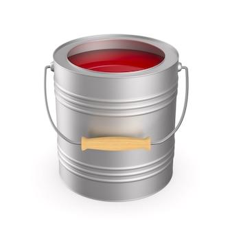 Può con colore su uno spazio bianco. illustrazione 3d isolata