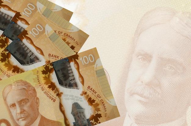 Banconote da un dollaro canadese su uno sfondo bianco