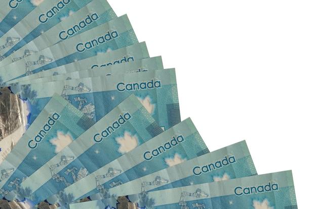 Le banconote in dollari canadesi si trovano isolate