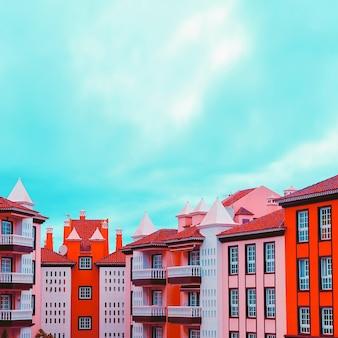 Canarie. vibrazioni di viaggio. design colorato della casa