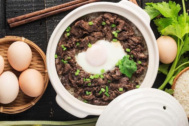 Riso alla cantonese con carne di manzo