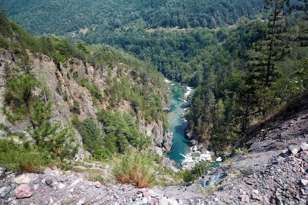 Canyon del fiume tara in montenegro