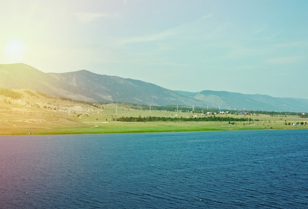 Cape hadarta.maloe more strait view, lago baikal