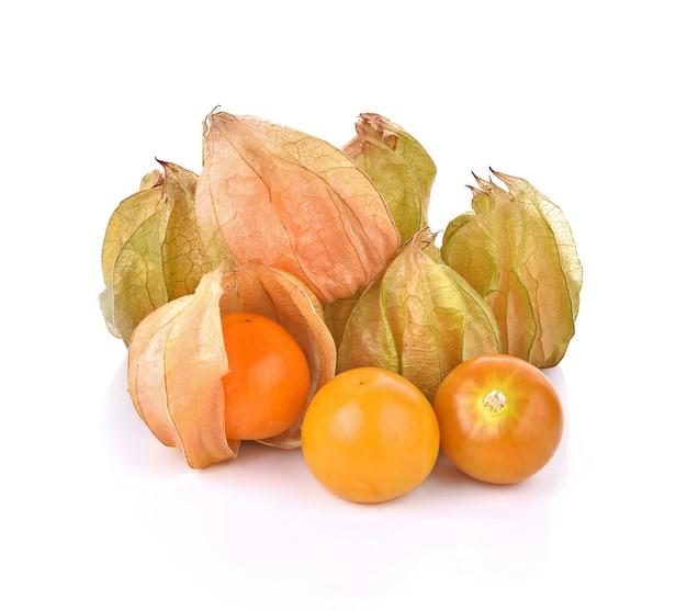 Frutti di bosco mantelli su sfondo bianco Foto Premium
