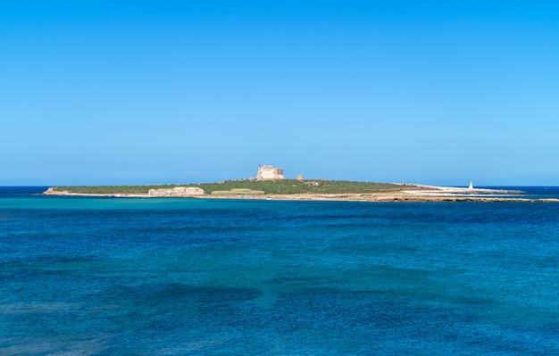 Isola di capopassero. portopalo di capo passero in sicilia