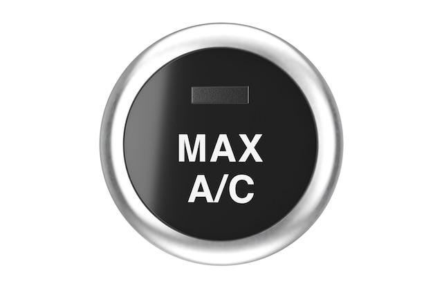 Auto aria condizionata pulsante su uno sfondo bianco. rendering 3d