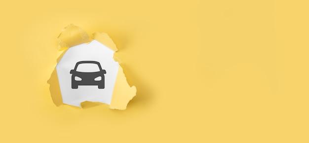 Assicurazione auto auto e concetto di servizi auto