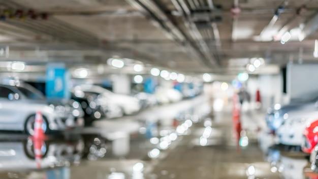 Parcheggio auto sfondo sfocato